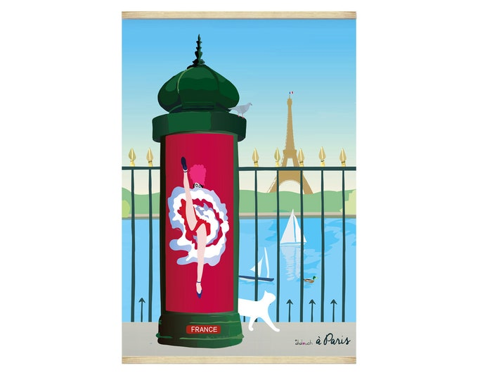 30x40cm poster on paper for decoration Didouch cancan column