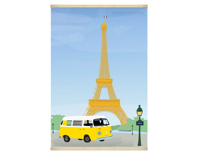 Poster 30X44 van in Paris of didouch