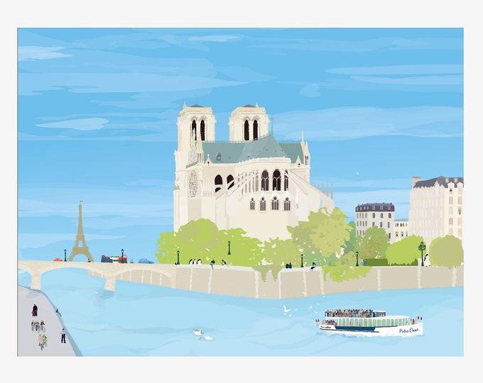 Notre Dame in Giclée Print