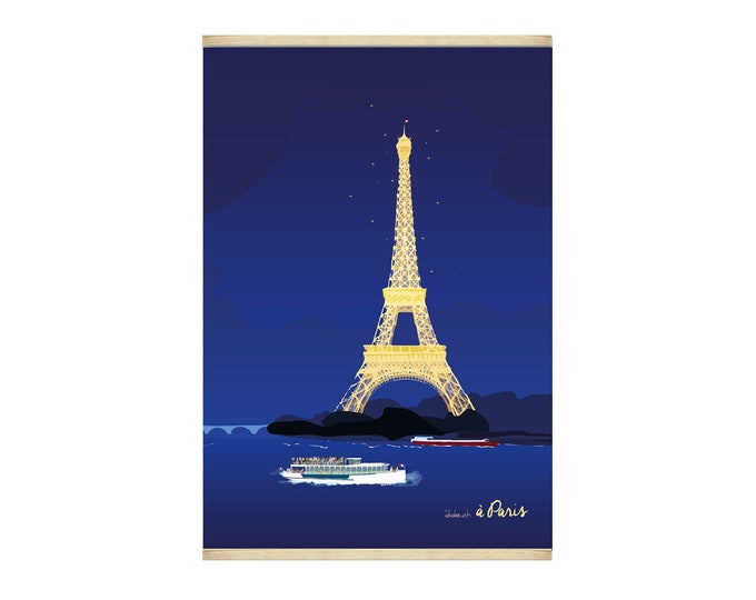 Poster 30X44 Paris by night by didouch