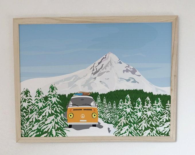 Van at didouch Mountain Displays Art Print