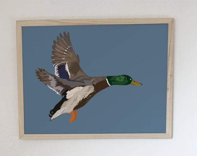ART'PRINT flight I didouch green collar - bird collection