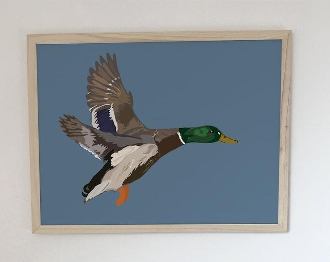 bird soar I didouch green collar displays Art Print