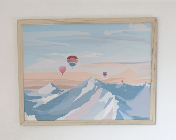 didouch Mountain Displays Art Print