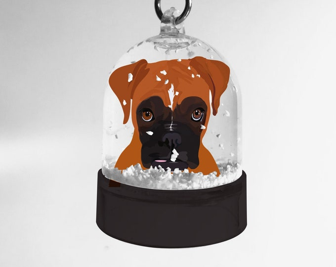 Snowball key ring Boxer didouch dog