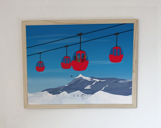 gondolas at didouch mountain displays Art print