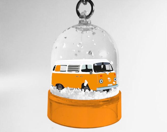 Orange van snowball keyring - didouch
