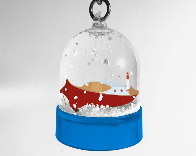 Snowball keyring Pinasse didouch