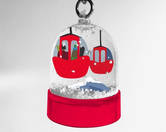 Mountain snowball key ring, the eggs of the gondola