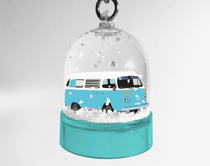 Snowball keyring blue van didouch