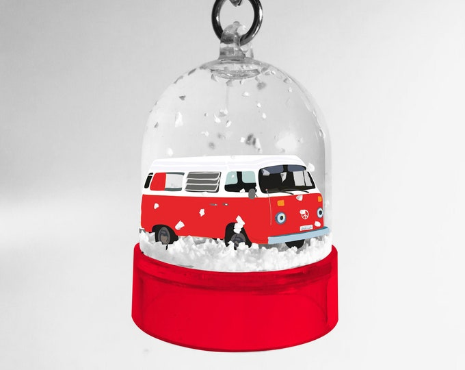 Red van didouch snowball keyring