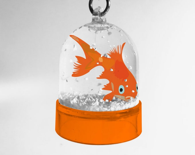 Keychain snowball goldfish of didouch