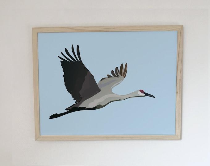 ART'PRINT didouch crane - bird collection