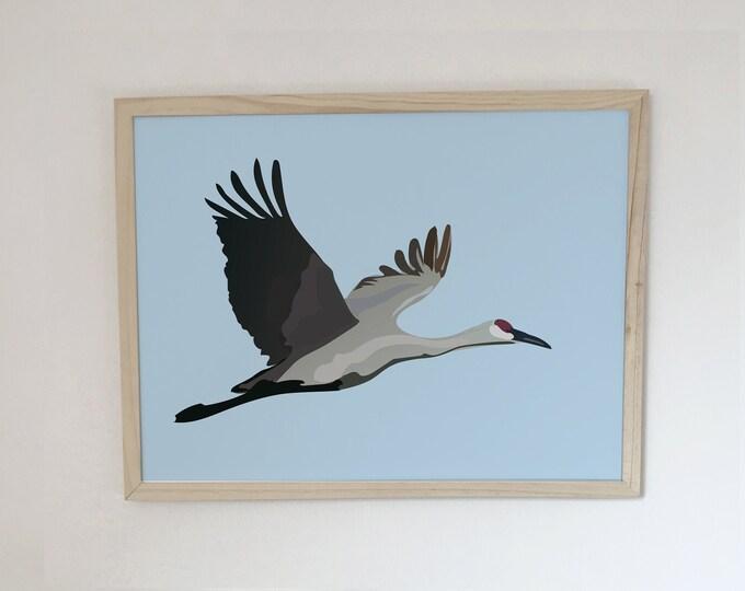 bird the didouch crane displays Art Print