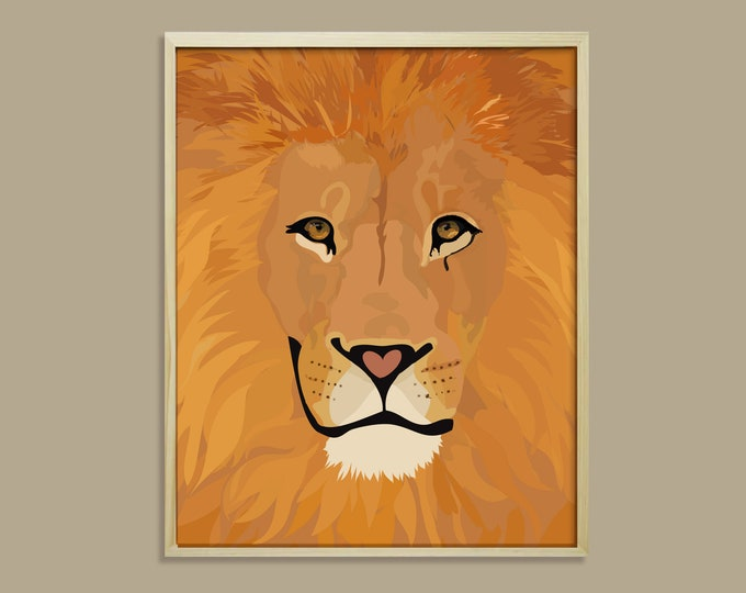 ART PRINT King didouch - animals: lion