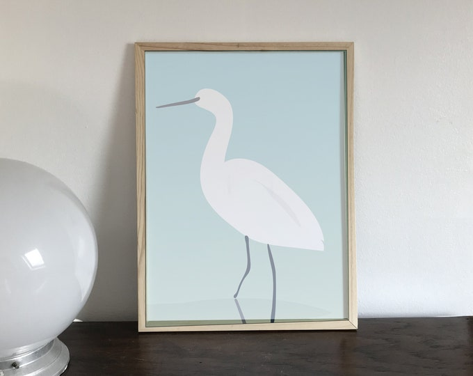 ART'PRINT didouch egret - bird collection