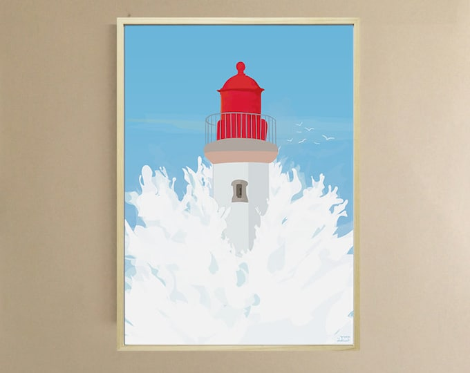 AFFICHE 3 FORMATS - TEMPETE - didouch Lighthouse