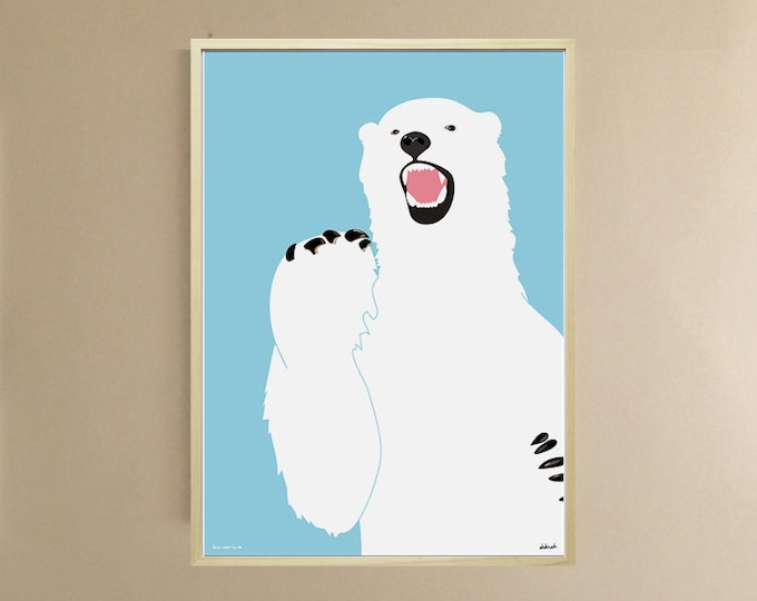 AFFICHE 50 x70cm DIDouch OURS WHITE
