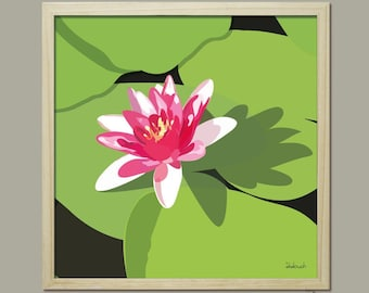AFFICHE 30x30 cm didouch water lily