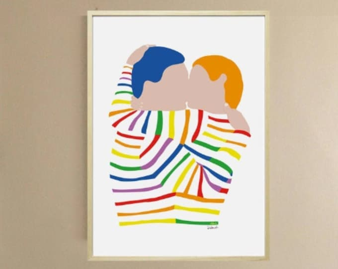 Poster - Art Printing didouch's freedom kiss