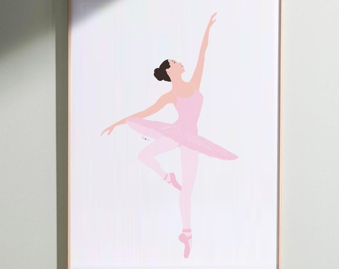 the ballerina in Giclée Print