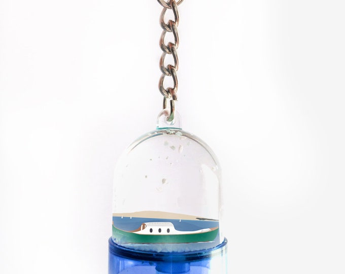 Pilat Cap Ferret Arcachon two-sided didouch snowball key ring