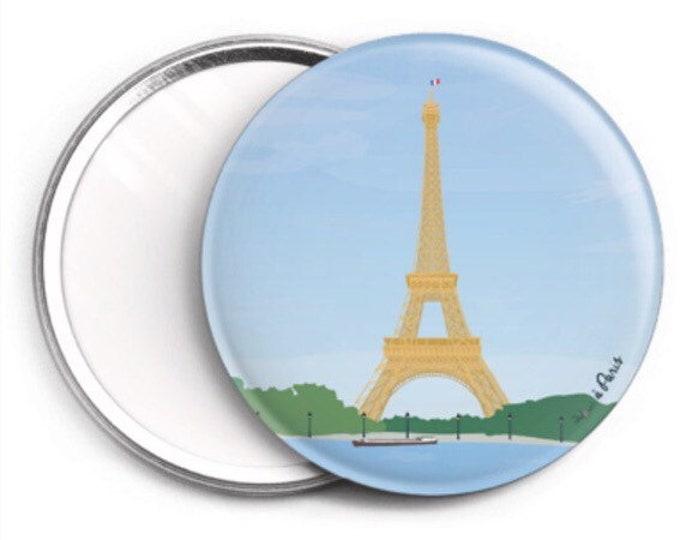 Mirror - 76mm Paris Eiffel Seine by didouch