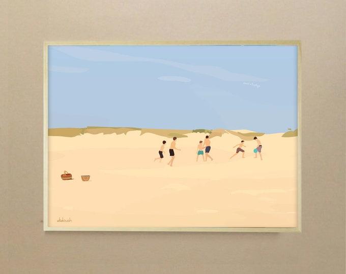 "Poster - Art draw ""vamos a la playa de didouch"""