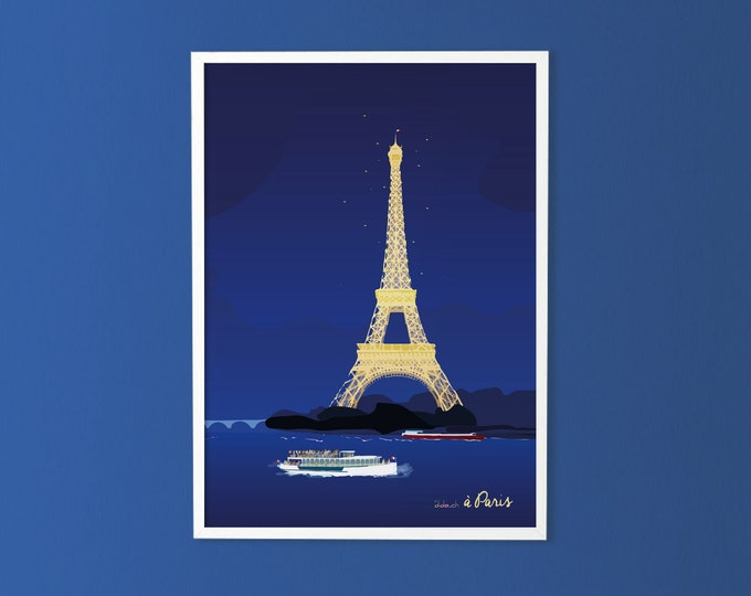 50X70 poster: Paris by night