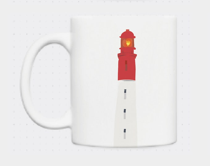 Mug the headlights Cap Ferret Cordouan Biarritz illustrated by didouch