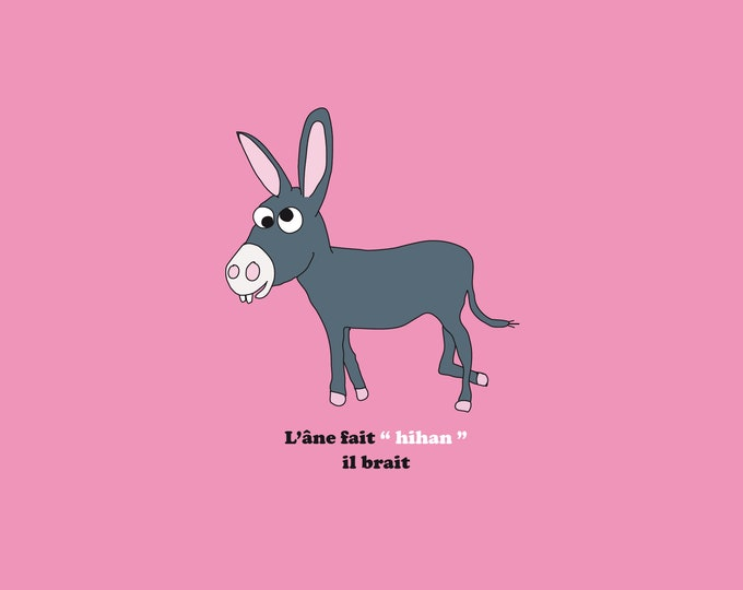 30x30 poster of the donkey of funny didouch animals