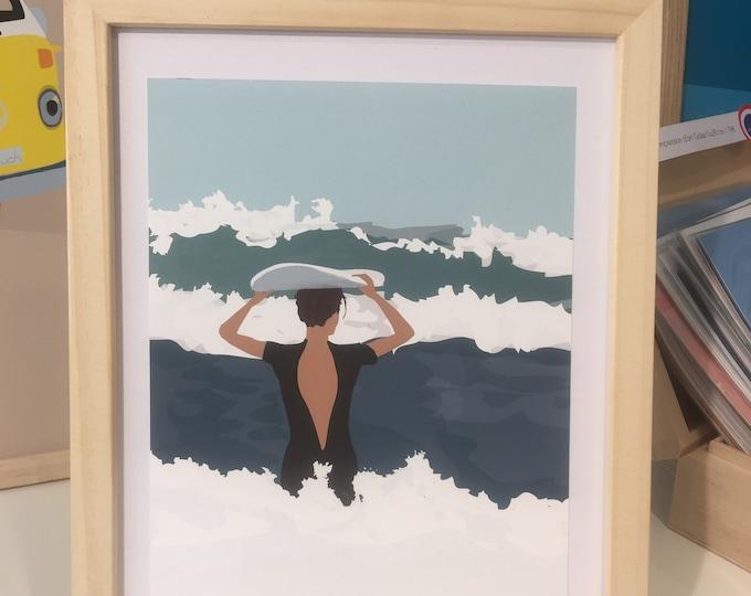 Ocean 2 - Surfer Poster Art Print