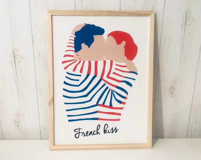 Poster 30X40 French kiss of didouch