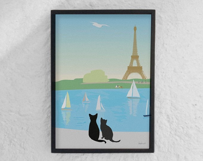 DISPLAYS 2 FORMATS. Cats at didouch Tuileries