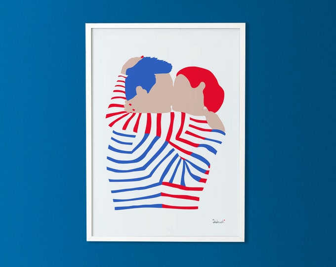50X70 poster: the sea kiss