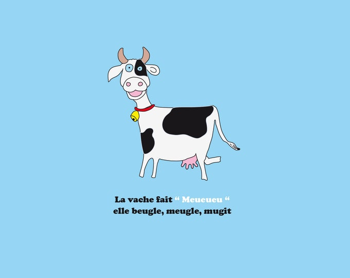 30x30 poster the cow of fun didouch animals