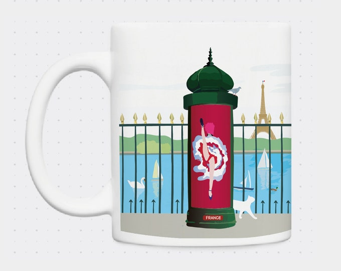 Mug column Moris cancan garden tile illustration didouch
