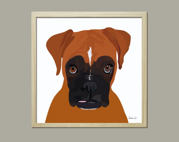 30x30 my queen didouch - animals: Boxer