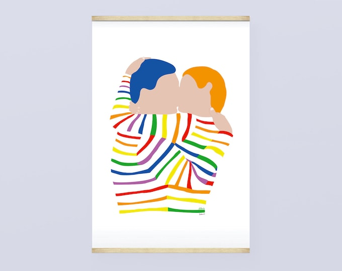 Poster 30X44 Rainbow Kiss by didouch