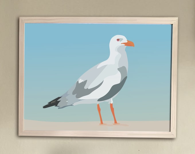 ART'PRINT The didouch's laughing seagull - bird collection
