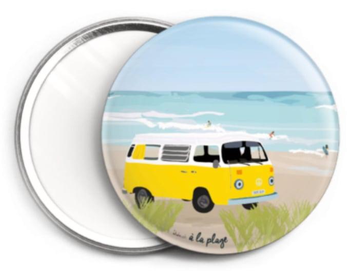 Mirror, didouch beach at the beach