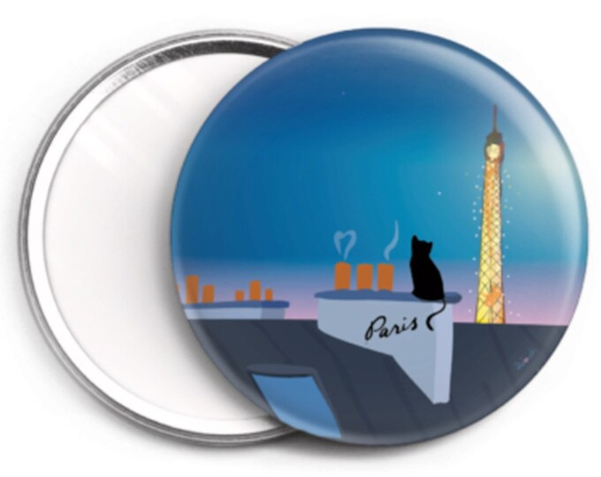 Mirror - 76mm Cat on a roof of Paris didouch