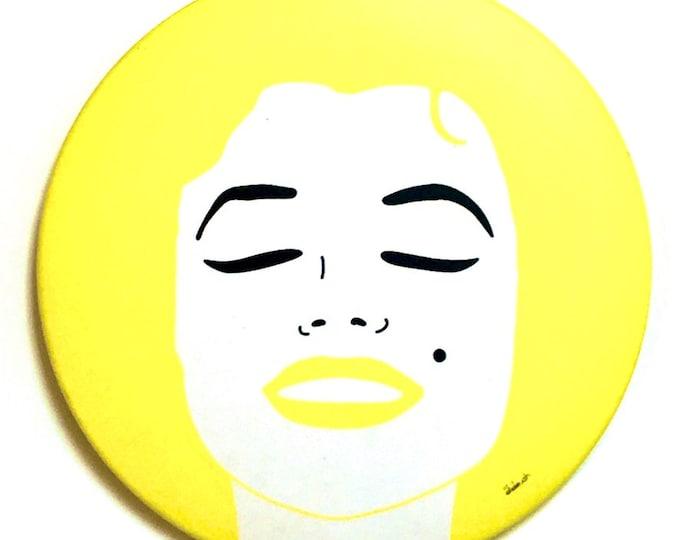 Mirror - 76 mm Marilyn Monroe yellow
