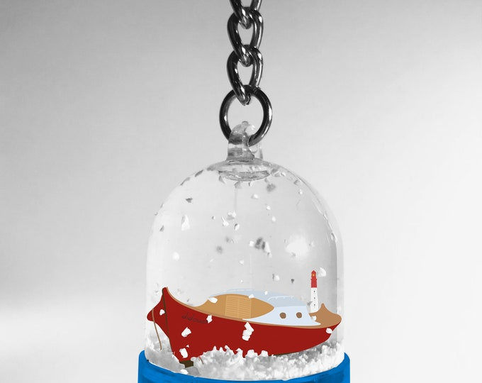 Keychain snowball pinasse double-sided didouch