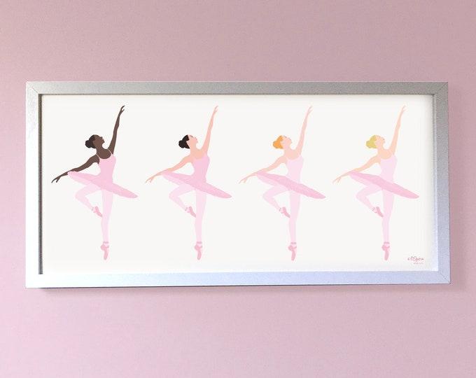 Print Giclée ballerinas