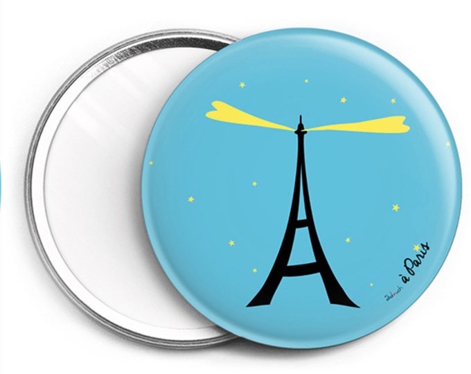 Mirror ∅ 76mm Stylized Eiffel Tower of didouch 2 colors