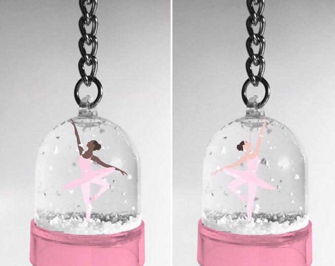 Snowball keyring Ballerina