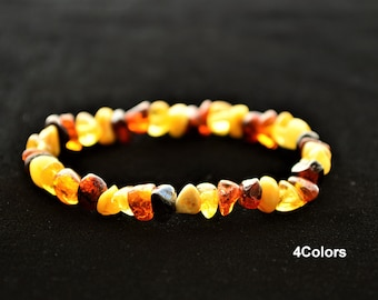 Genuine Amber Bracelet/anklet Child-adult Knotted Beads Sizes 13-25 Cm Earrings Teethers