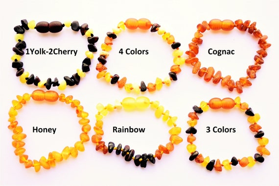 Resin Baltic Amber Teething Anklet Bracelet Baby Adult Raw Chip Beads DIY Decor