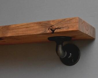 Pipe Hangers For Industrial Floating Shelves Blind Wood Shelf Etsy